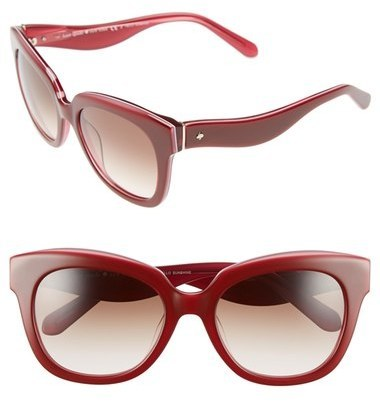0fed9ec03cce Kate Spade New York Amberly 54mm Cat Eye Sunglasses Brown Nude, £131 ...