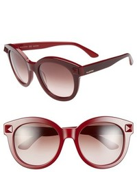 Valentino Rockstud 54mm Semi Oval Cat Eye Sunglasses