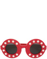 Linda Farrow Round Framed Sunglasses