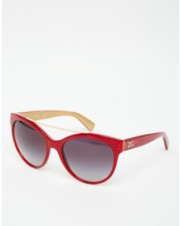 Dolce & Gabbana Round Sunglasses With Brow Bar