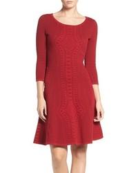 Gabby Skye Fit Flare Sweater Dress