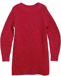 Rib knit wool cashmere mohair sweater dress medium 7012831