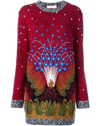 Valentino Volcano Sweater Dress