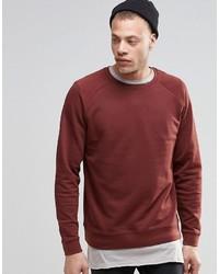 Asos Brand Sweatshirt In Dark Red