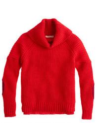 J.Crew Girls Elbow Patch Turtleneck Sweater