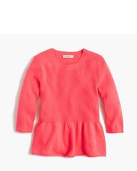 J.Crew Girls Ruffle Hem Popover Sweater