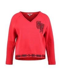 Tommy Hilfiger Gigi Hadid V Neck Sweatshirt Red