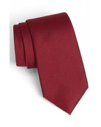 Woven silk tie red x long medium 444583
