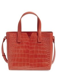 Vince Baby Signature V Croc Embossed Tote