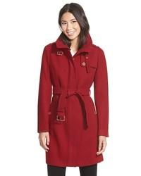 MICHAEL Michael Kors Michl Michl Kors Stand Collar Wool Blend Trench Coat