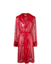 Christopher Kane Plastic Lace Trench Coat