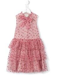 Gucci Kids Glitter Dots Tulle Dress