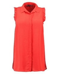 Seesucker ruffle shirt red medium 4239433