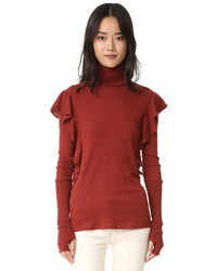 Cashmere ruffle turtleneck medium 758228