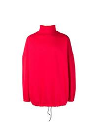 Balenciaga Oversized Red Sweatshirt