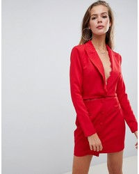 Missguided Blazer Dress In Red