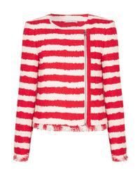 Alice + Olivia Stanton Striped Tweed Jacket