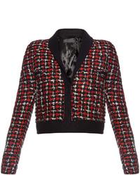 Haider Ackermann Tweed Wool Blend Cropped Jacket