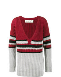 Martine Rose V Neck Stripe Jumper