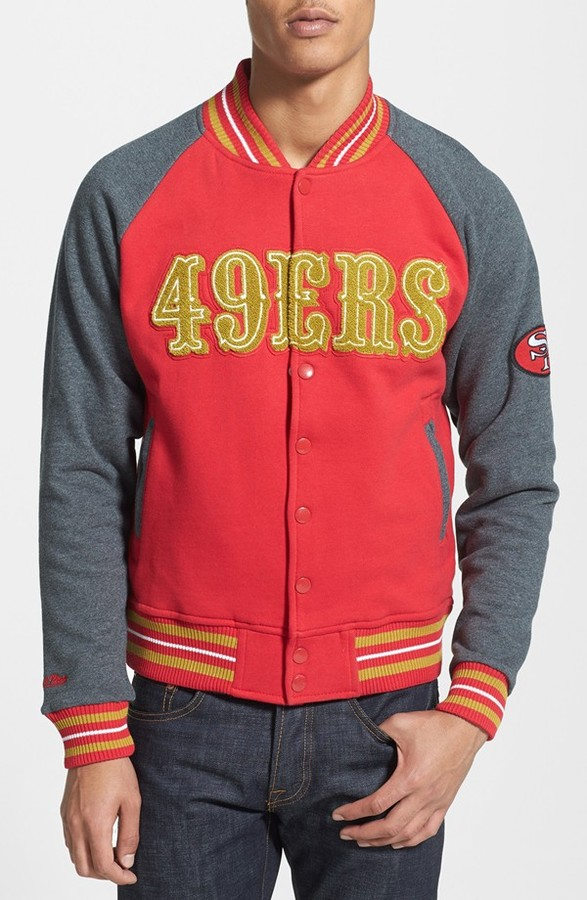 sports shoes c5af2 f9ba0 £120, Mitchell & Ness Backward Pass San Francisco 49ers Fleece Jacket