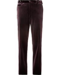 Straight leg velvet suit trousers medium 9279