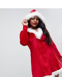 Club L Plus Santa Christmas Dress With Faux