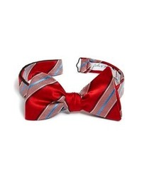 Red Vertical Striped Bow-tie