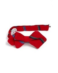 Nordstrom Wool Blend Bow Tie Red One Size