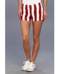 Red Vertical Striped Shorts