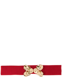 No.21 No21 Waist Belt With Gold Tone Leaf Embellisht
