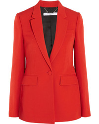 Givenchy Blazer In Red Grain De Poudre Wool