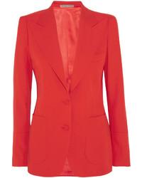 Bottega Veneta Wool Gabardine Blazer Red