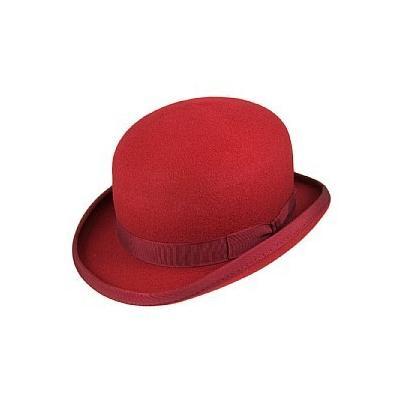 Christys  Hats Christys Hats Wool Felt Bowler Red  abda568e035e
