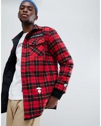 Red Wool Shirt Jacket