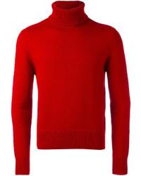 Red Wool Turtleneck