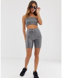 Silver Bike Shorts