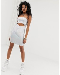 New Girl Order Holographic Cut Out Bodycon Dress