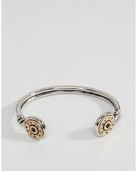 Icon Brand Bullet Cuff Bangle Bracelet In Silver