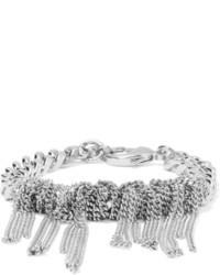 MM6 MAISON MARGIELA Knotted Chain Silver Tone Bracelet