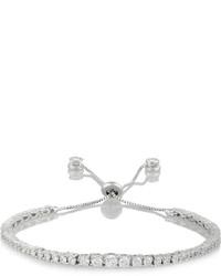 Kenneth Jay Lane Rhodium Plated Cubic Zirconia Bracelet