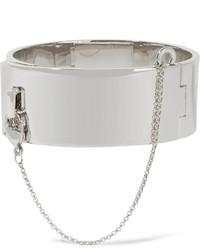 Eddie Borgo Safety Chain Silver Plated Bracelet