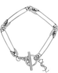 Saint Laurent Silver Plated Bracelet