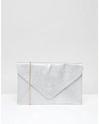 Boohoo Glitter Envelope Clutch Bach