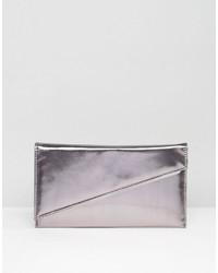 Asos Metallic Slanted Bar Clutch Bag