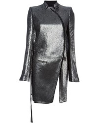 Ann Demeulemeester Metallic Fitted Coat