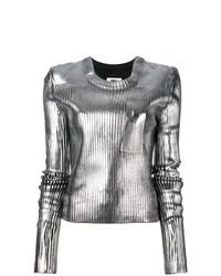 MM6 MAISON MARGIELA Metallic Ribbed Sweater