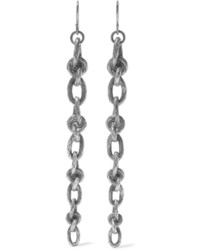 Bottega Veneta Oxidized Silver Earrings One Size