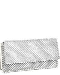 Beaded mesh clutch black medium 1008970
