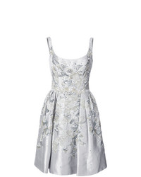 Marchesa Embellished Scoop Neck Dress