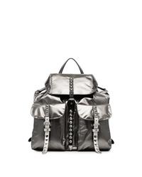 Prada Metallic Stud Embellished Leather Backpack